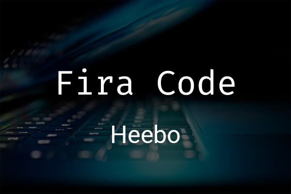 Schriftpaare für Website und Social Media: Fira Code und Heebo.