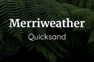 Schriftpaare für Website und Social Media: Merriweather und Quicksand.