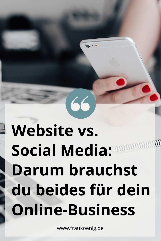 Website vs. Social Media Darum brauchst du beides für dein Online-Business