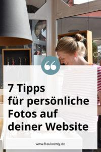 Persönliche Fotos auf deiner Website
