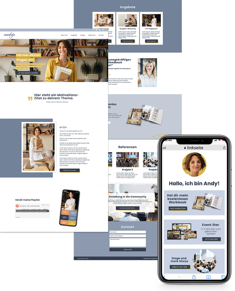 Onepager Website Template Stil Andy