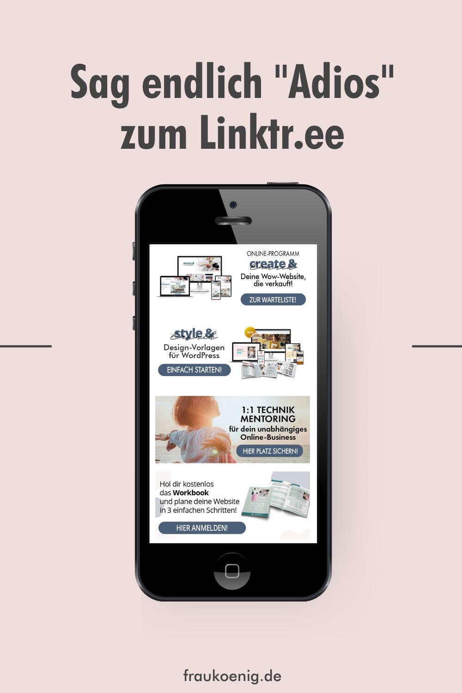 Smartphone mit eigenem Linktr.ee - So erstellst du deine eigene Linkseite für deine Instragram Bio